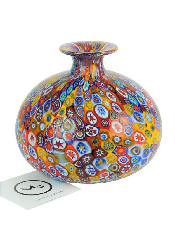 D'onato - Venetian Glass Vase With Murrina