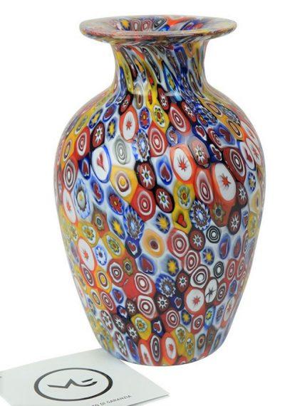 Venetian Glass Vase – Pasta – With Murrina Millefiori