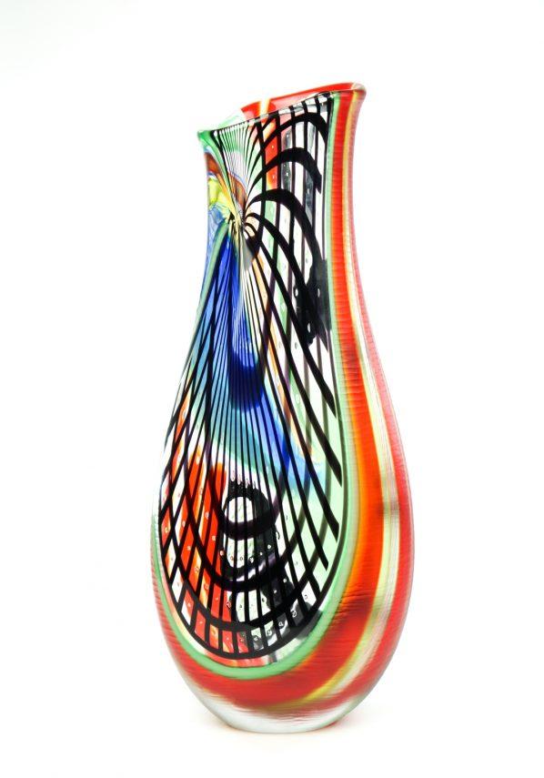 Red Vase Master Afro Celotto - Unique Piece 1/1