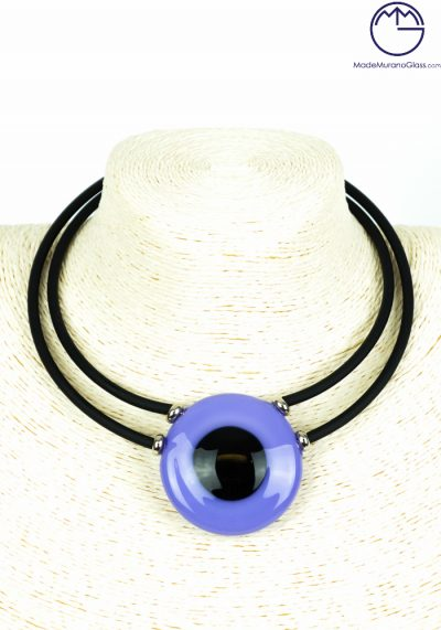Charms – Purple Necklace – Made Murano Glass