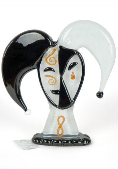 Sculpture Jolly Carnival In Venice – Made Murano Glass