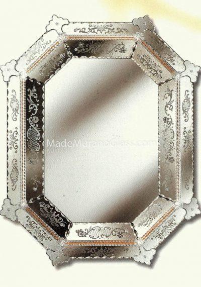 Venetian Glass Mirror – Rialto – Murano Collection