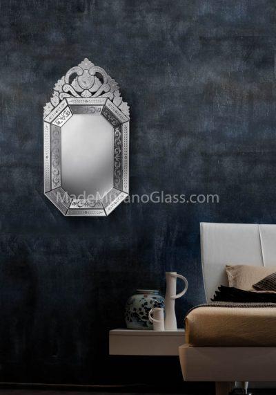 Silver Venetian Glass Wall Mirror – Museo