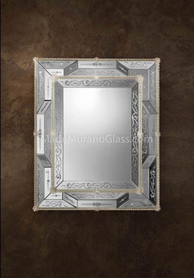Venetian Glass Mirror – Lido – Murano Art