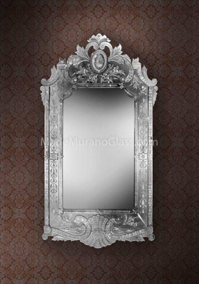 Silver Wall Mirror Murano – Colonna