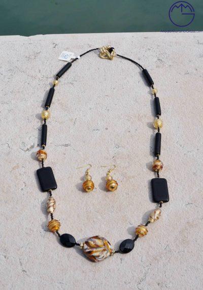 Belfast – Necklace And Earrings In Murano Glass – Venetian Glass Jewellery
