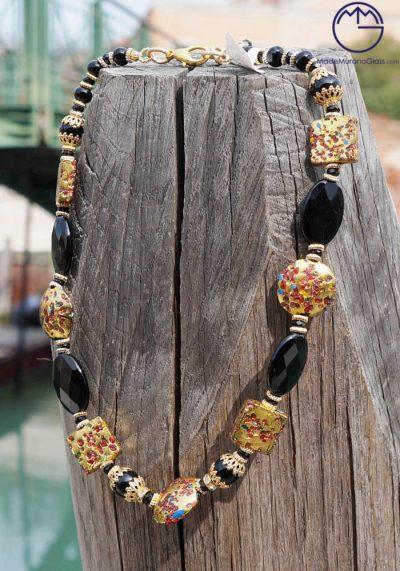 Miami – Venetian Glass Jewellery – Necklace In Murano Glass