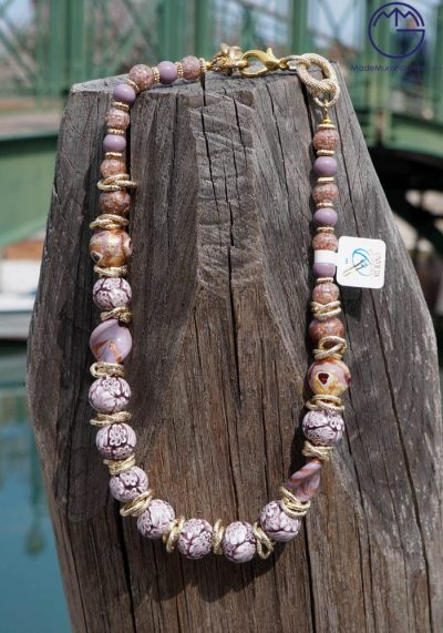 Venetian Glass Jewellery – Necklace With Murrina In Murano Glass
