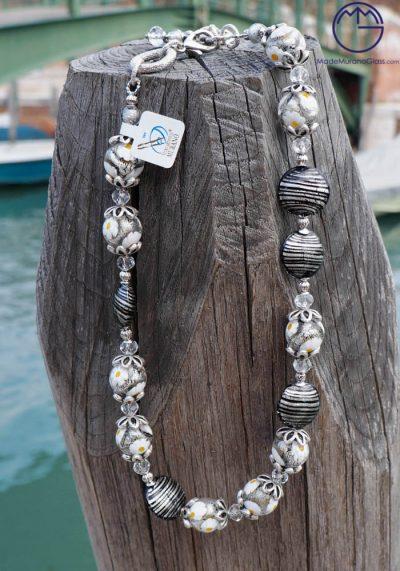 Venetian Glass Jewellery – Necklace In Murano Glass – Murano Crystals