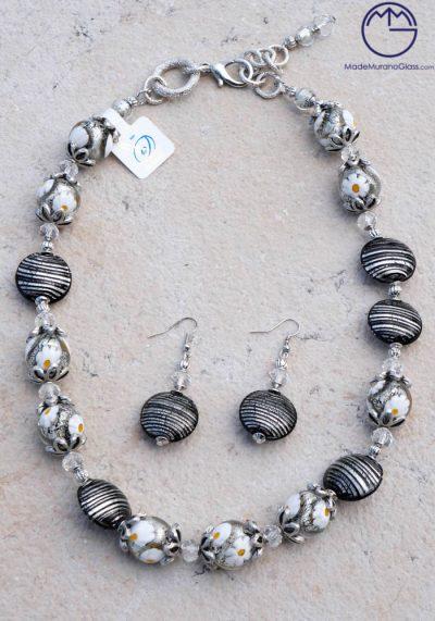 Aberdeen – Necklace And Earrings In Murano Glass – Venetian Glass Jewellery