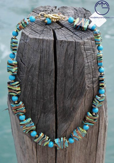 Portland – Venetian Glass Jewellery – Necklace In Murano Glass