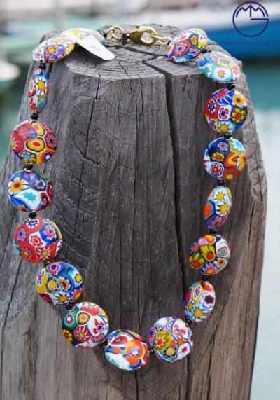 Venetian Glass Jewellery – Necklace In Murano Glass With Murrina