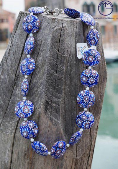 Chicago – Venetian Glass Jewellery – Necklace In Murano Glass With Murrina