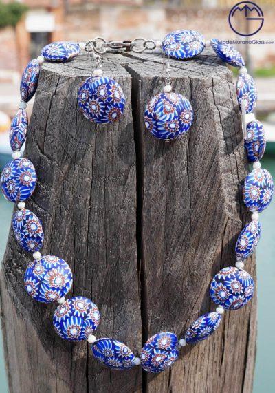 Nottingham – Necklace And Earrings In Murano Glass – Venetian Glass Jewellery