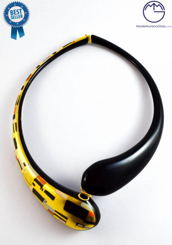 klimt murano glass necklace