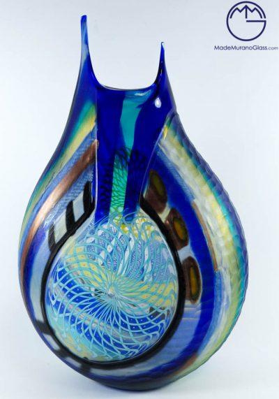 Pistoia – Vaso Esclusivo Vetro Murano Inciso A Freddo
