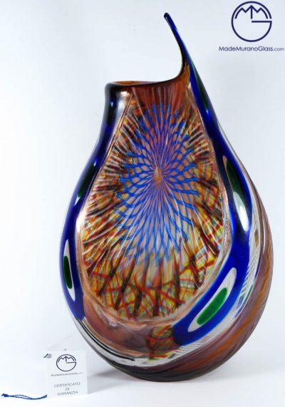 Robert – Exclusive Venetian Glass Vase Engraved