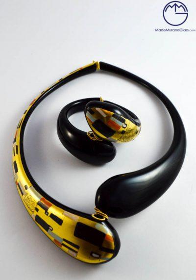 Klimt – Necklace And Bracelet In Murano Glass – Venetian Glass Jewellery