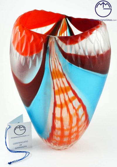 Stefy – Exclusive Venetian Glass Vase Engraved – Murano Glass