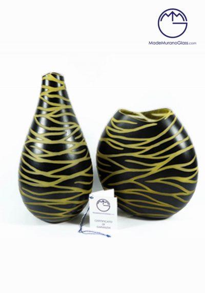 Mistery – Couple Venetian Glass Vase Engraved