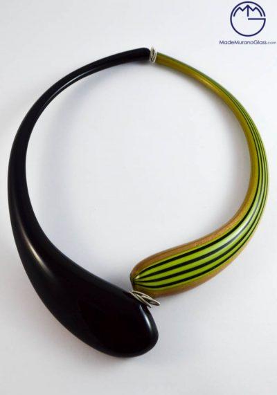 Alaska – Venetian Glass Jewellery – Pendant With Avventurina In Murano Glass