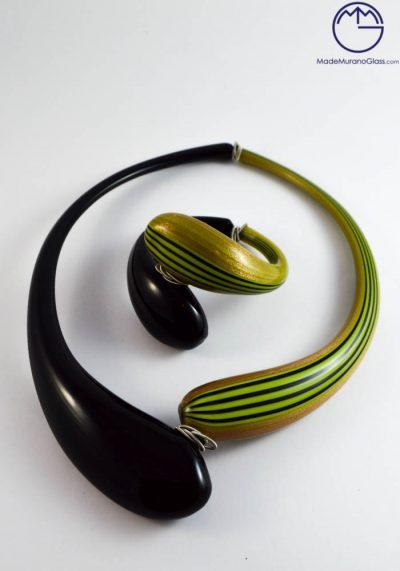 Norwich – Necklace And Bracelet In Murano Glass – Venetian Glass Jewellery