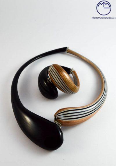 Panama – Necklace And Bracelet In Murano Glass – Venetian Glass Jewellery