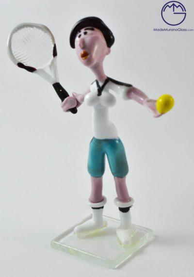 Murano Glass Figurines – Tennis Player – Murano Art