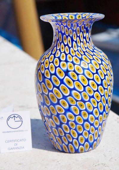 Venetian Glass Vase – Mare – With Murrina Millefiori
