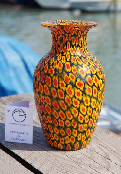 Venetian Glass Vase – Jolly – With Murrina Millefiori