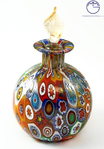 Bottle With Murrina Millefiori And Gold Leaf