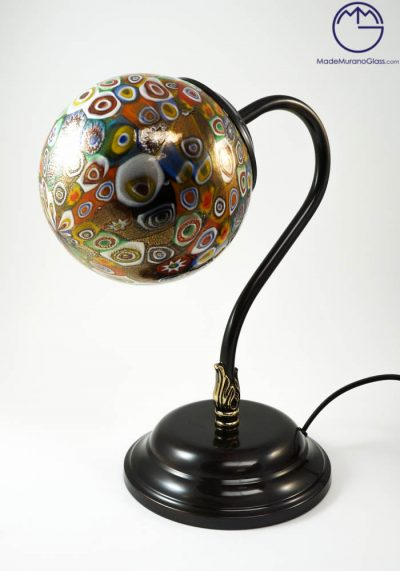 Kansas – Venetian Glass Lamps With Murrina Millefiori And Gold 24 Carats – Murano Glass