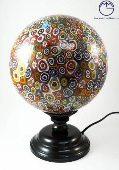 Iowa – Venetian Glass Lamps With Murrina Millefiori And Gold 24 Carats – Murano Glass