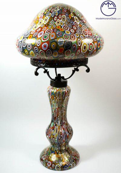 Indiana – Venetian Glass Lamps With Murrina Millefiori And Gold 24 Carats – Murano Glass