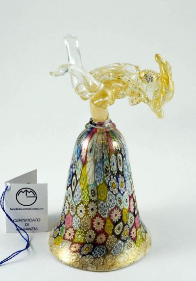 Venetian Glass Goblet With Murrina And Gold – Murano Art