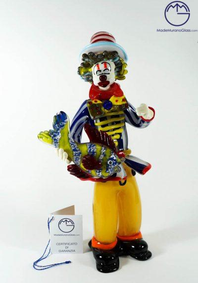 Murano Glass Clown With Fish – Murano Art