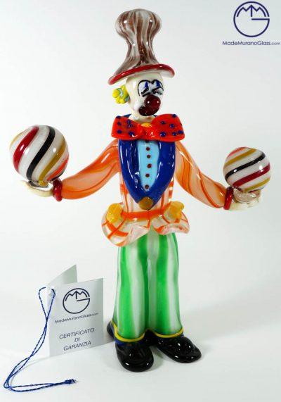 Murano Glass Juggler Clown – Murano Glass Figurines