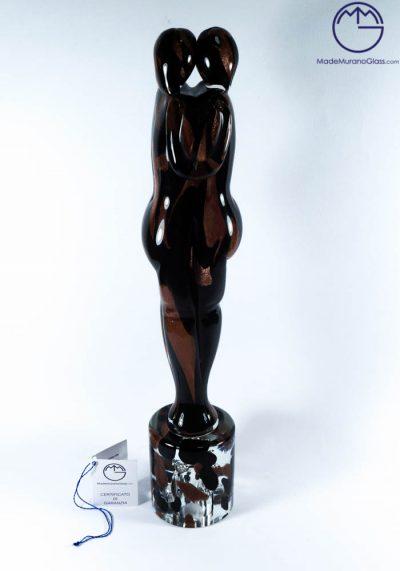 Murano Glass Figurines Lovers With Avventurina – Venetian Glass