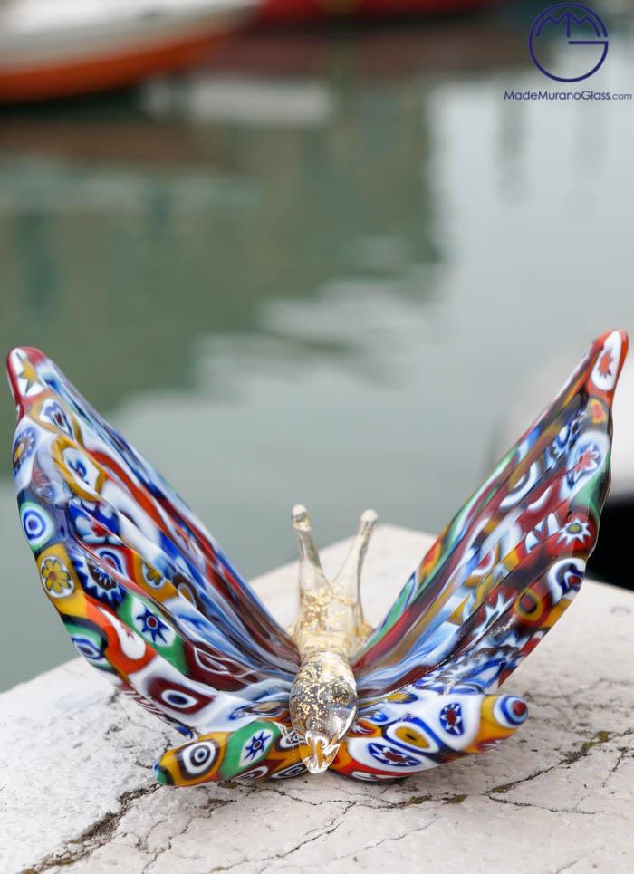 Murano style murrine Butterfly