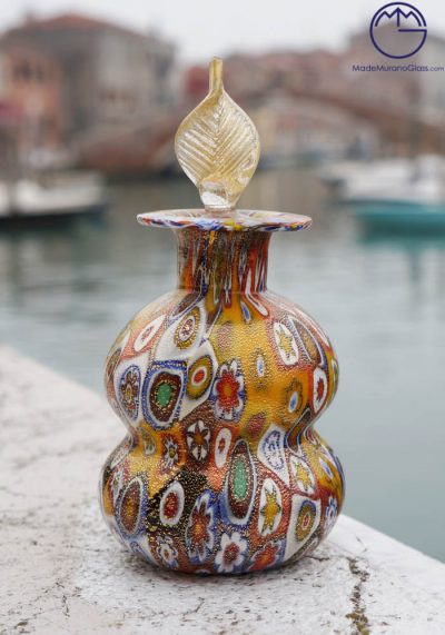 Martin – Fragrance Bottle In Murano Glass With Murrina And Gold 24 Carats