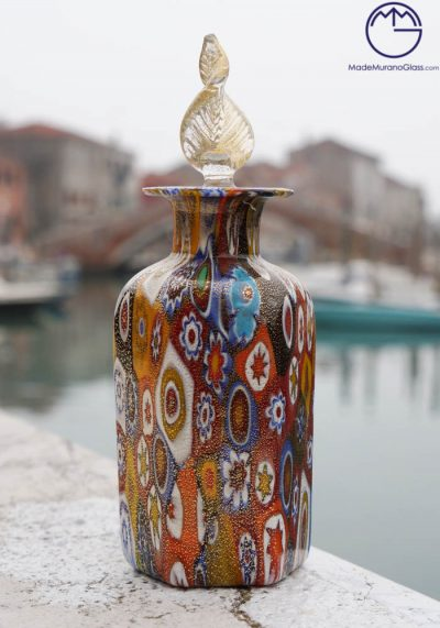 Wang – Fragrance Bottle In Murano Glass With Murrina And Gold 24 Carats
