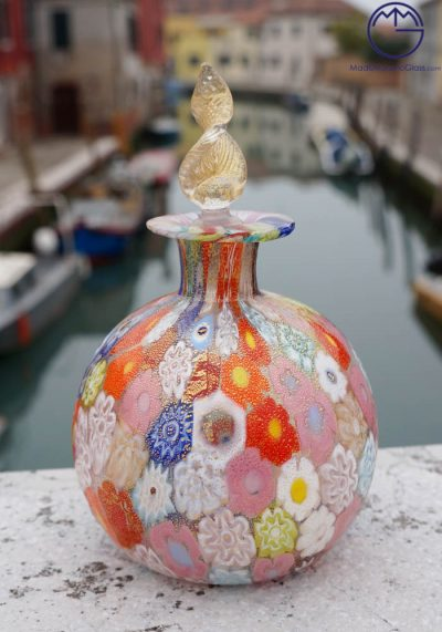 Davies – Fragrance Bottle In Murano Glass With Murrina And Gold 24 Carats
