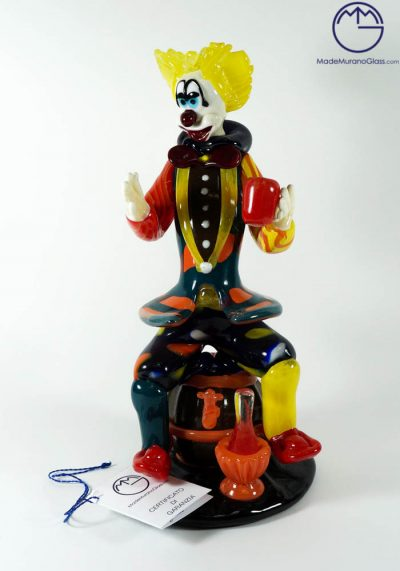 Murano Glass Clown With Flagon – Murano Art Glass