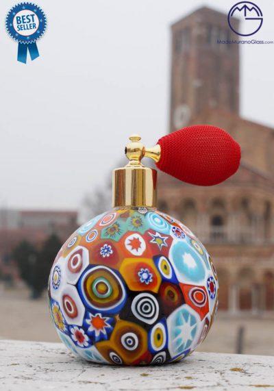 Fragrance Bottle In Murano Glass With Murrina – Murano Art