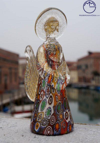 Efesto – Angelo In Vetro Murano Con Murrina E Oro 24kt