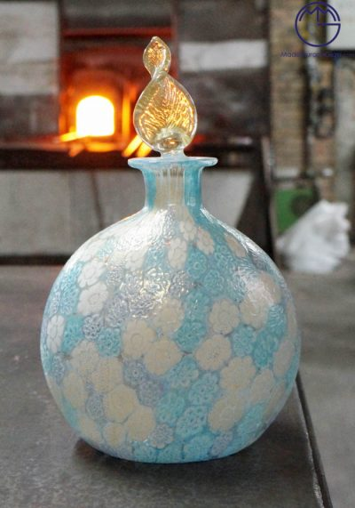 Fragrance Big Bottle In Murano Glass With Murrina – Murano Glass Ornaments