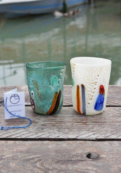 2 Murano Drinking Glasses – Goto De Fornasa – Murano Glass