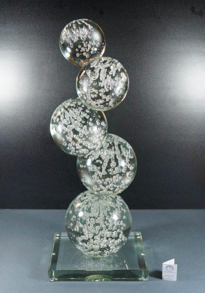 Sculpture 5 Spheres In Murano Glass – Murano Art Glass