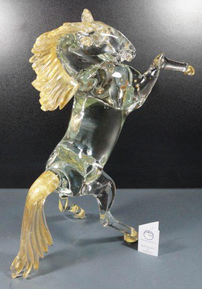 Starlight – Scultura Cavallo In Vetro Murano Con Oro 24kt