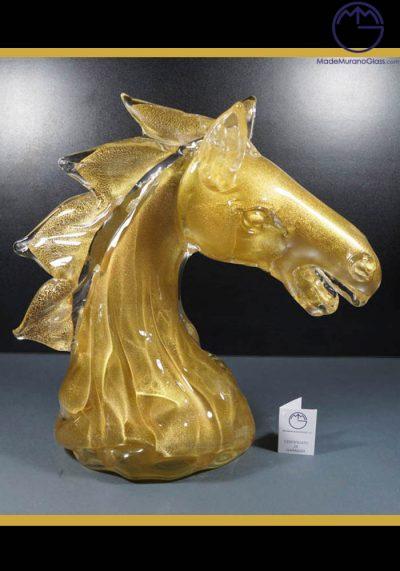 Murano Glass Animals – Horse Head – Murano Art Glass